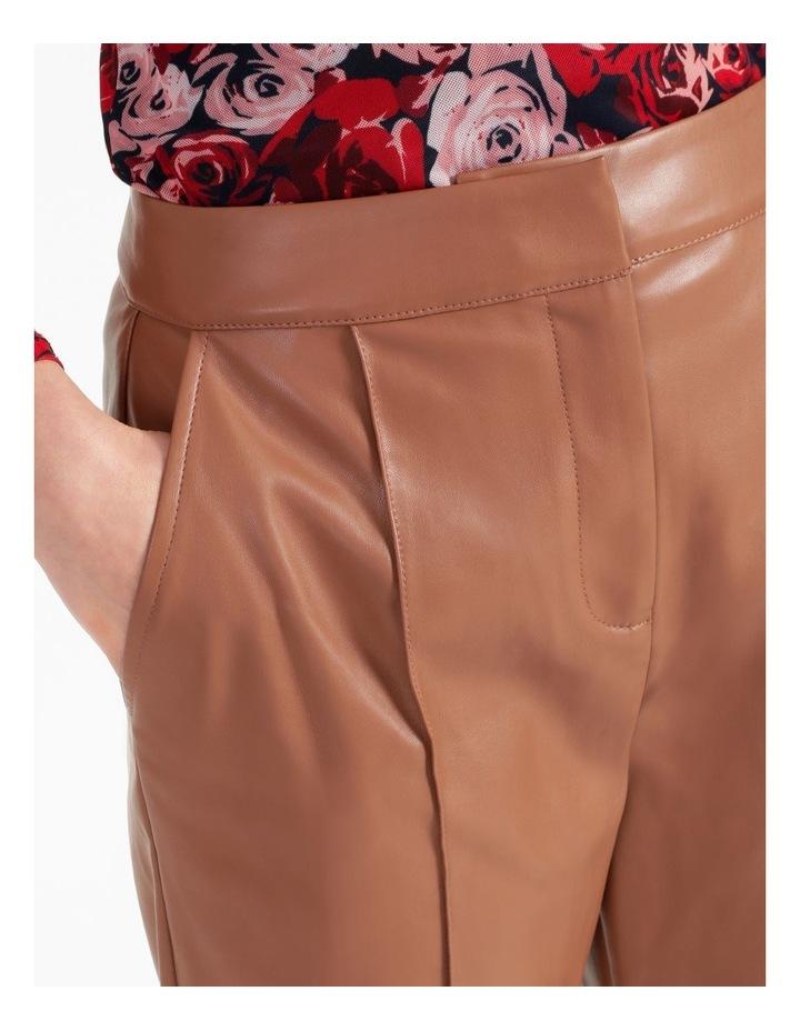 Straight Leg Faux Leather Pants image 5