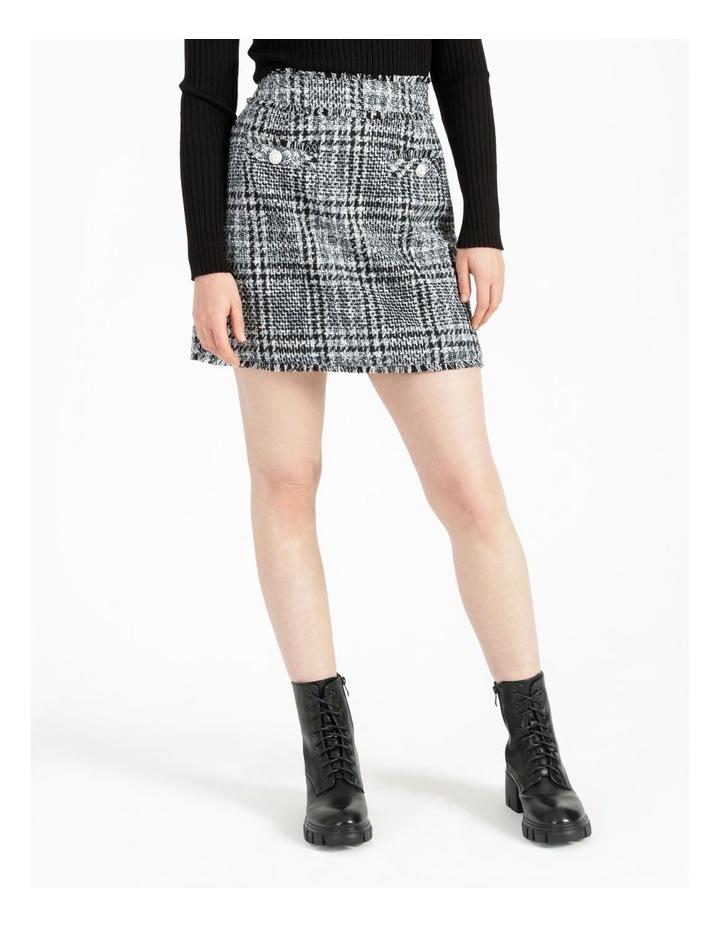 Tweed Check Black/White Mini Skirt image 1