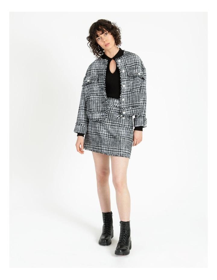 Tweed Check Black/White Mini Skirt image 2