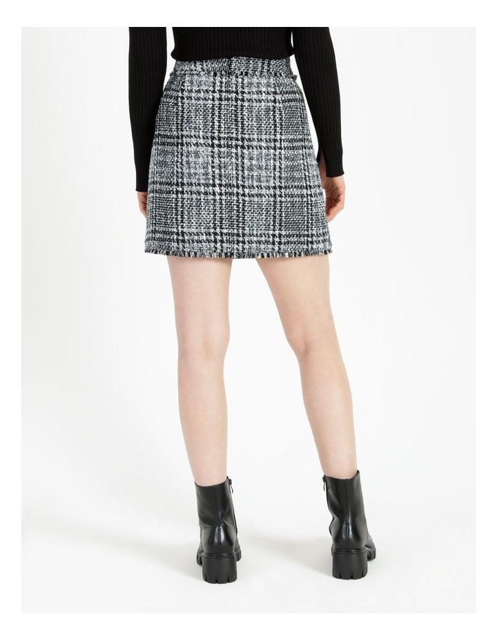 Tweed Check Black/White Mini Skirt image 3