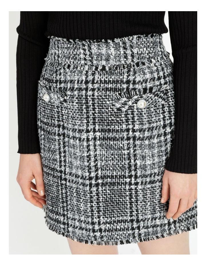 Tweed Check Black/White Mini Skirt image 4