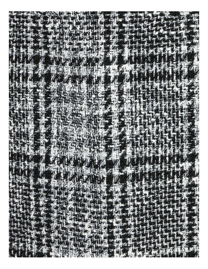 Tweed Check Black/White Mini Skirt image 5