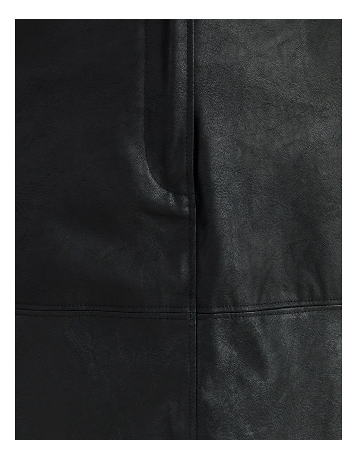 A-Line Faux Leather Midi Skirt image 6