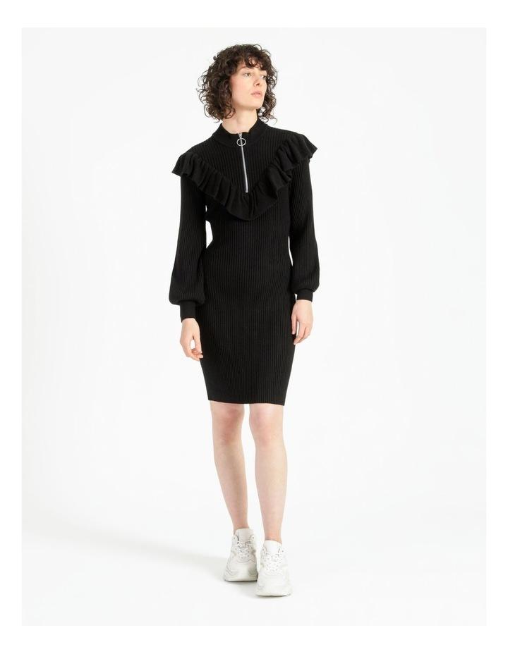 Ruffle Blousson Sleeve Knit Dress image 1
