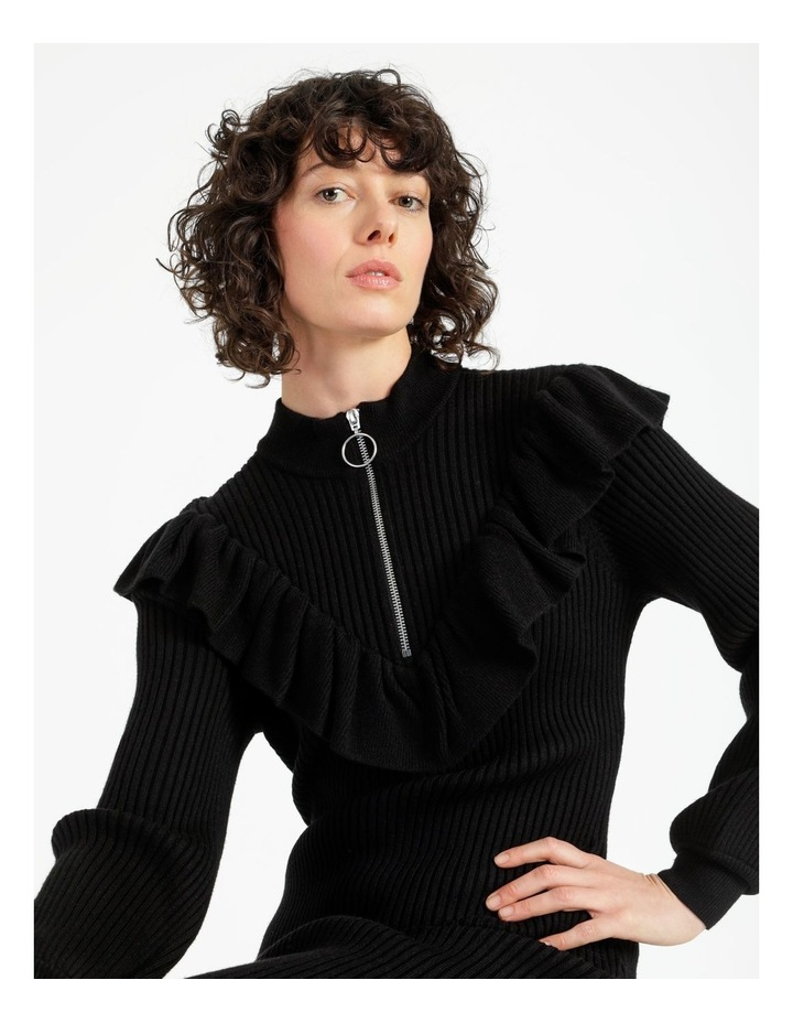 Ruffle Blousson Sleeve Knit Dress image 2