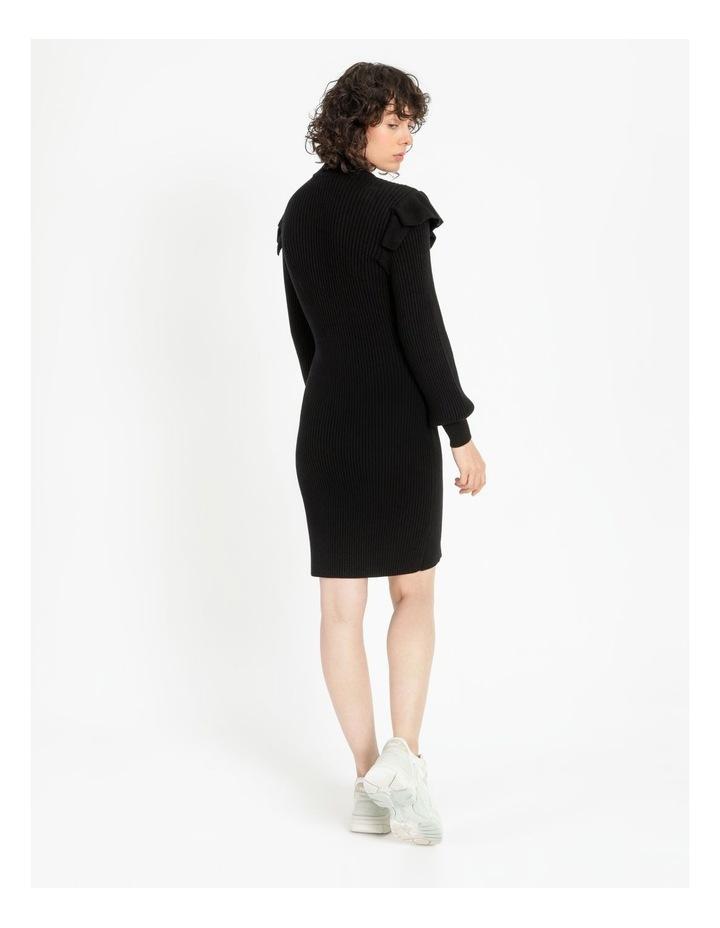 Ruffle Blousson Sleeve Knit Dress image 4