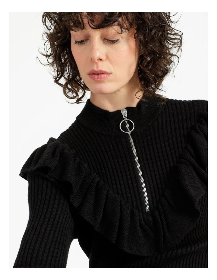 Ruffle Blousson Sleeve Knit Dress image 5