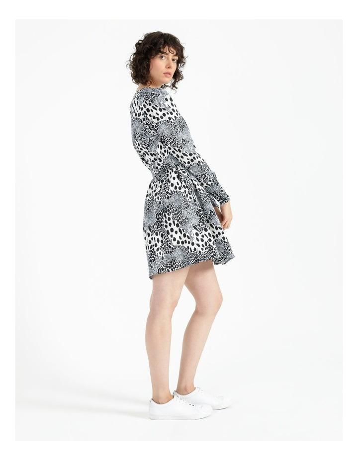 Puff Sleeve Mini Dress image 3