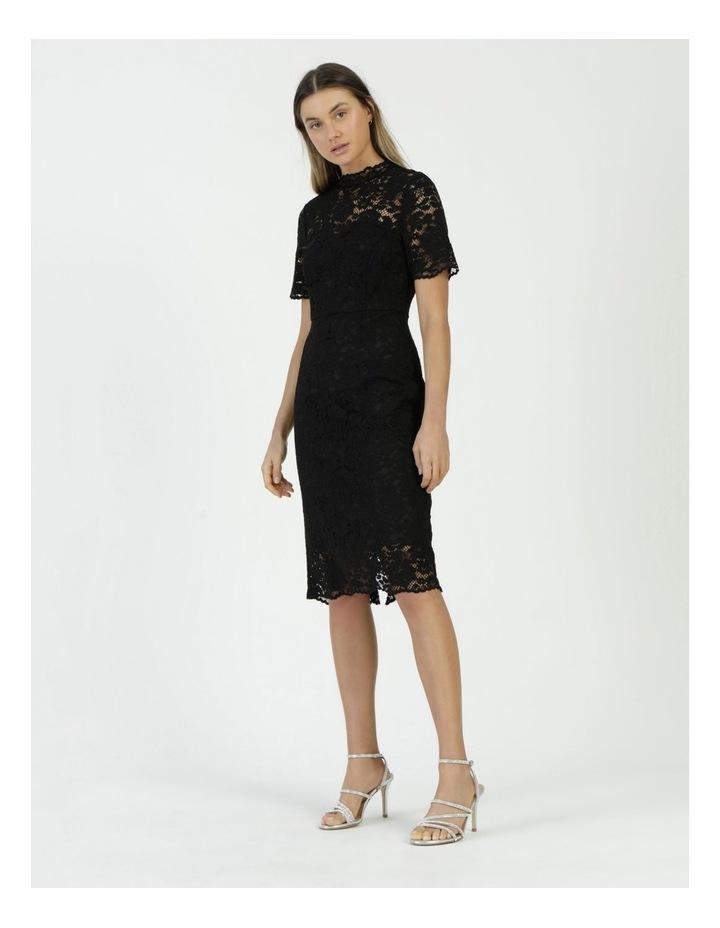 Pencil Lace Midi Dress Black image 4