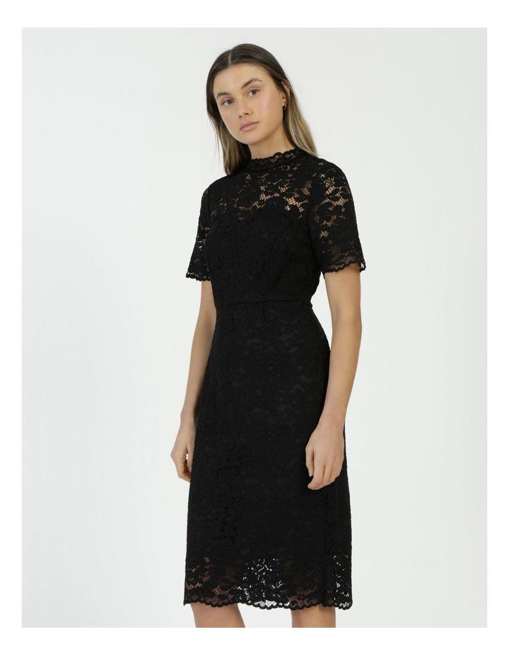 Pencil Lace Midi Dress Black image 5