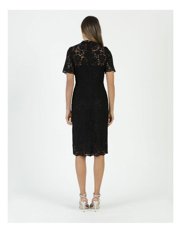 Pencil Lace Midi Dress Black image 6