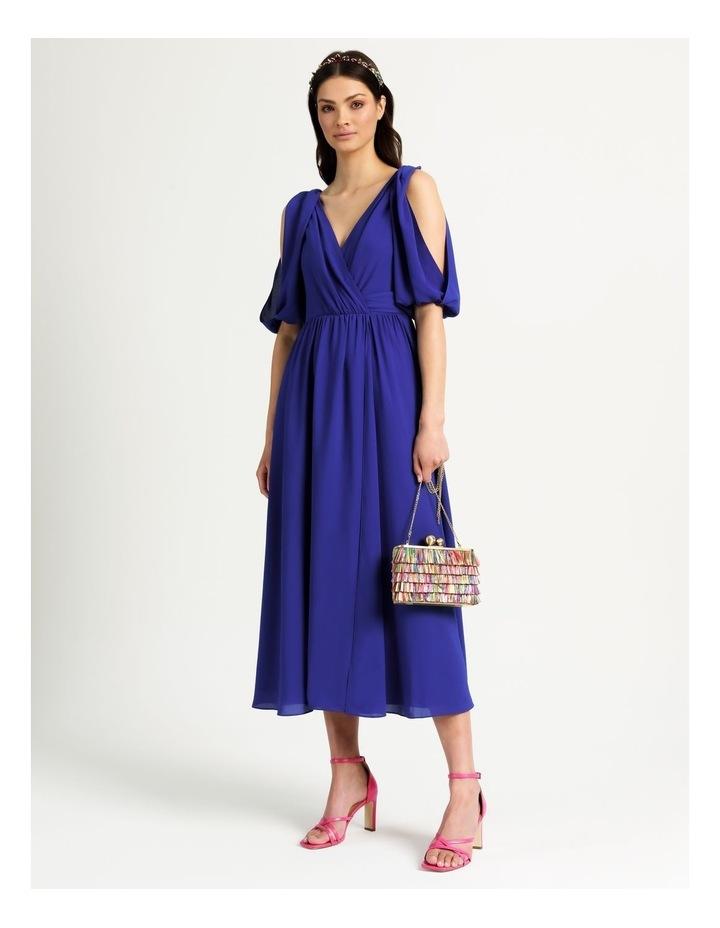Open Shoulder Midi Wrap Dress image 1