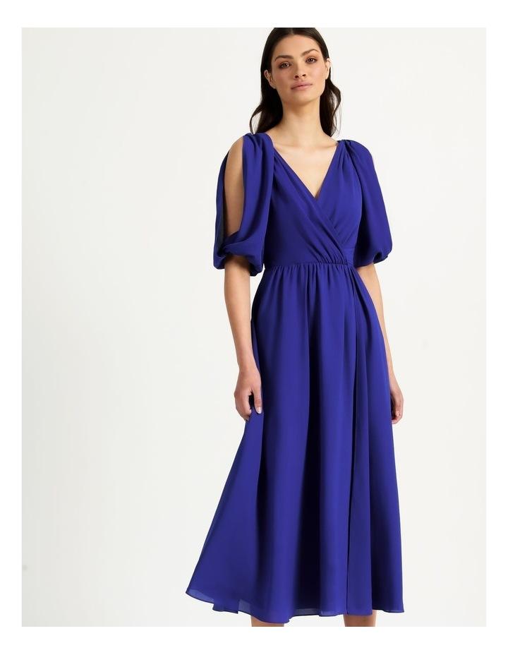 Open Shoulder Midi Wrap Dress image 2