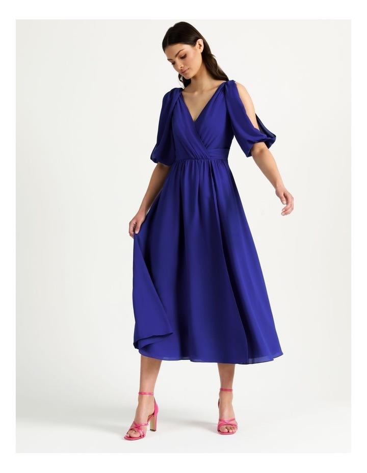 Open Shoulder Midi Wrap Dress image 3