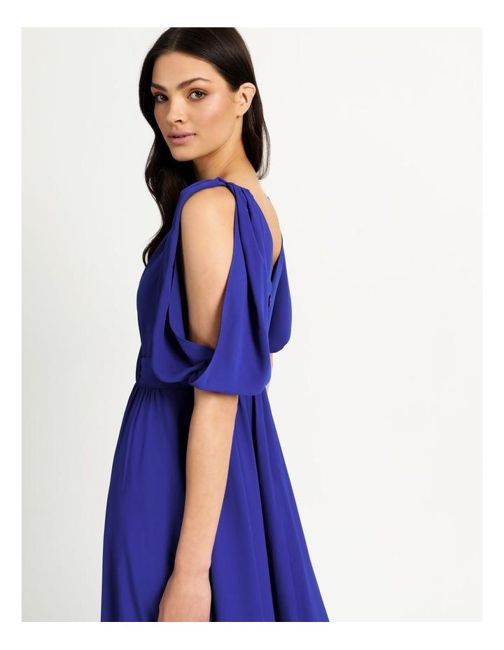 Open Shoulder Midi Wrap Dress image 4