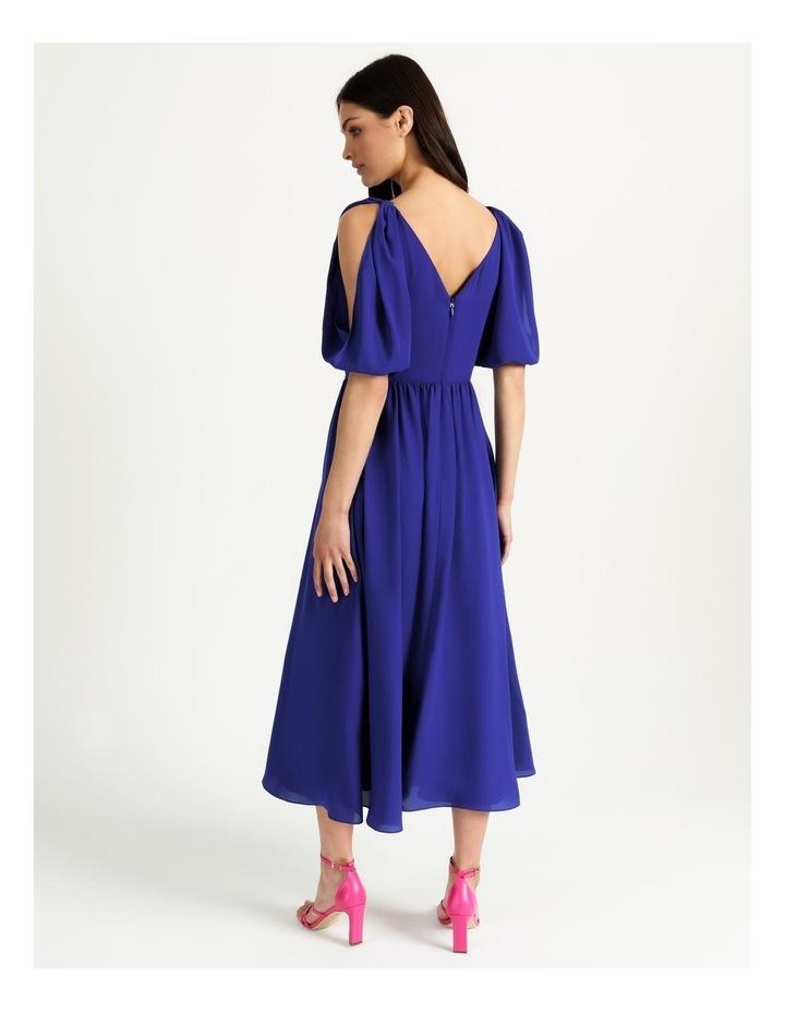 Open Shoulder Midi Wrap Dress image 5