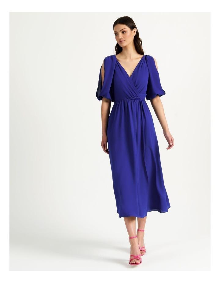 Open Shoulder Midi Wrap Dress image 6