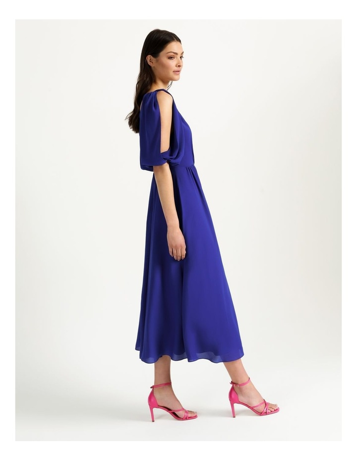Open Shoulder Midi Wrap Dress image 7