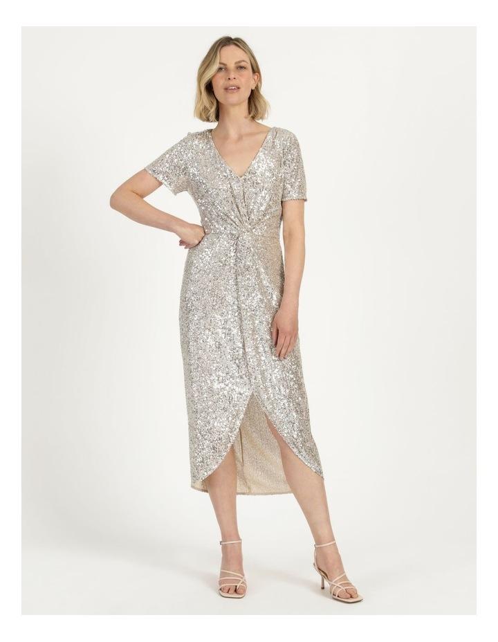 Knot Detail Sequin Midi Dress image 2