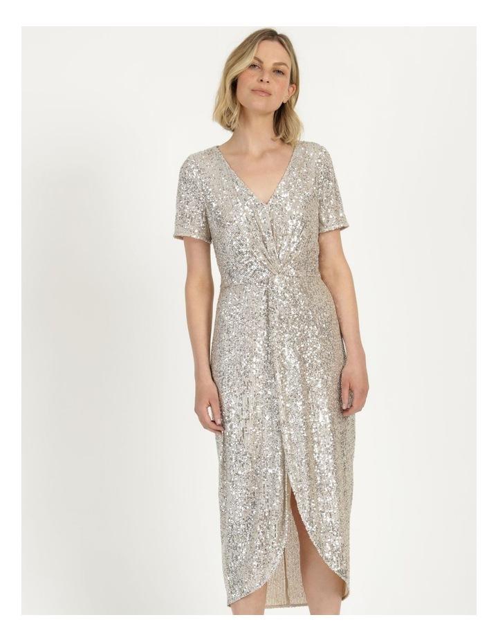 Knot Detail Sequin Midi Dress image 3