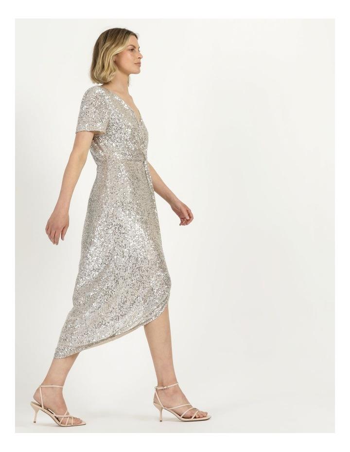Knot Detail Sequin Midi Dress image 5