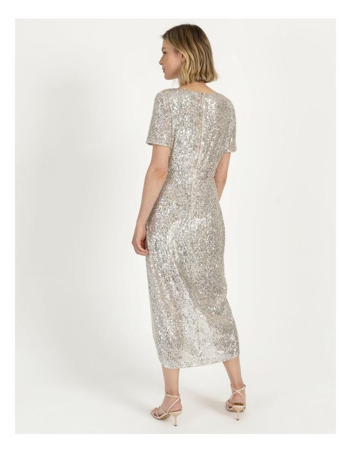 Knot Detail Sequin Midi Dress image 6