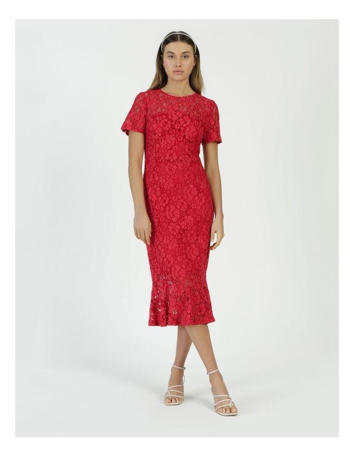 Lace Midi Flounce Dress image 1