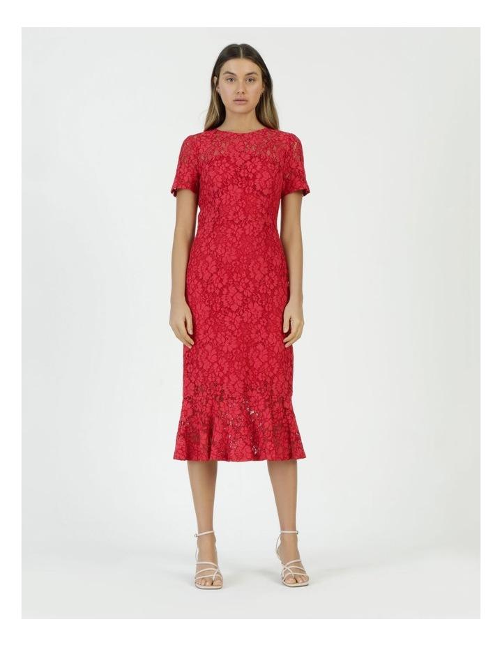 Lace Midi Flounce Dress image 2