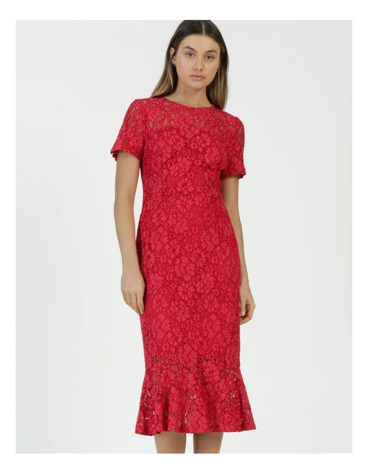 Lace Midi Flounce Dress image 3