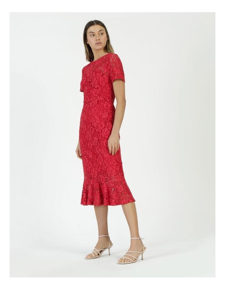 Lace Midi Flounce Dress image 4