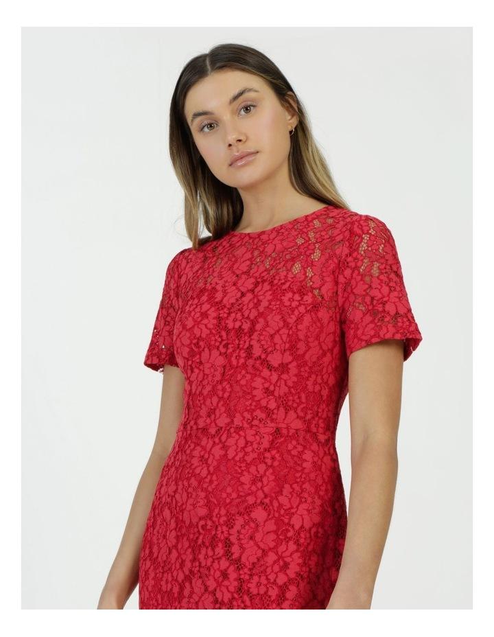 Lace Midi Flounce Dress image 5