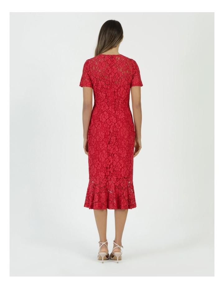 Lace Midi Flounce Dress image 6