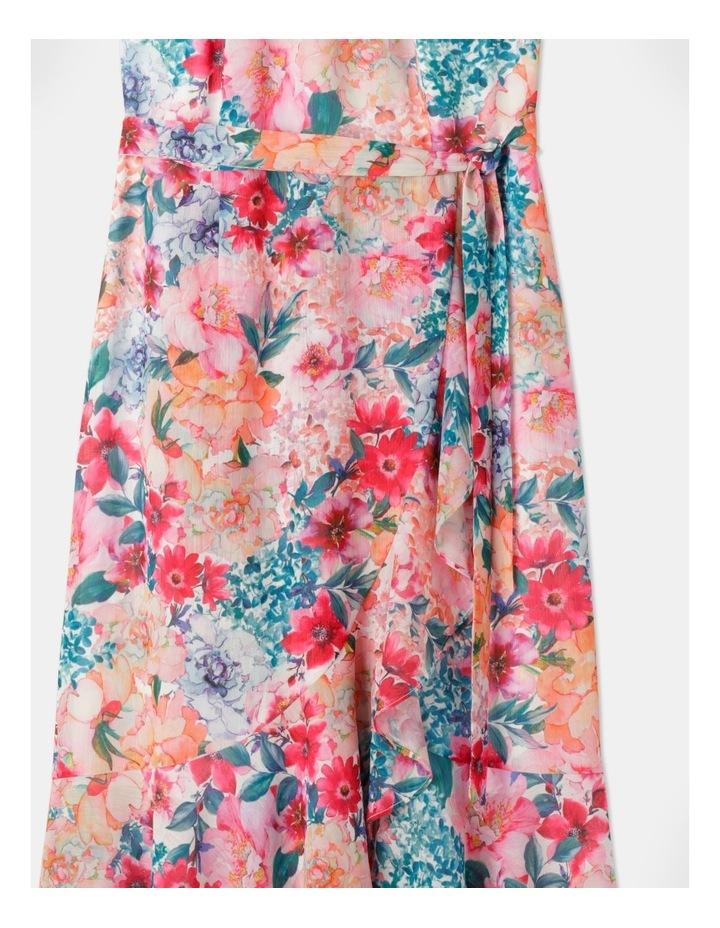 Halter Neck Ruffle Midi Dress Bright Floral image 2