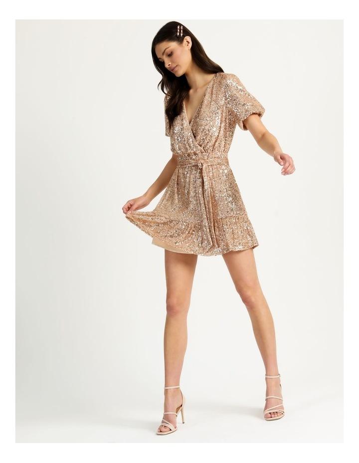 Sequin Mini Dress Rose Gold image 1