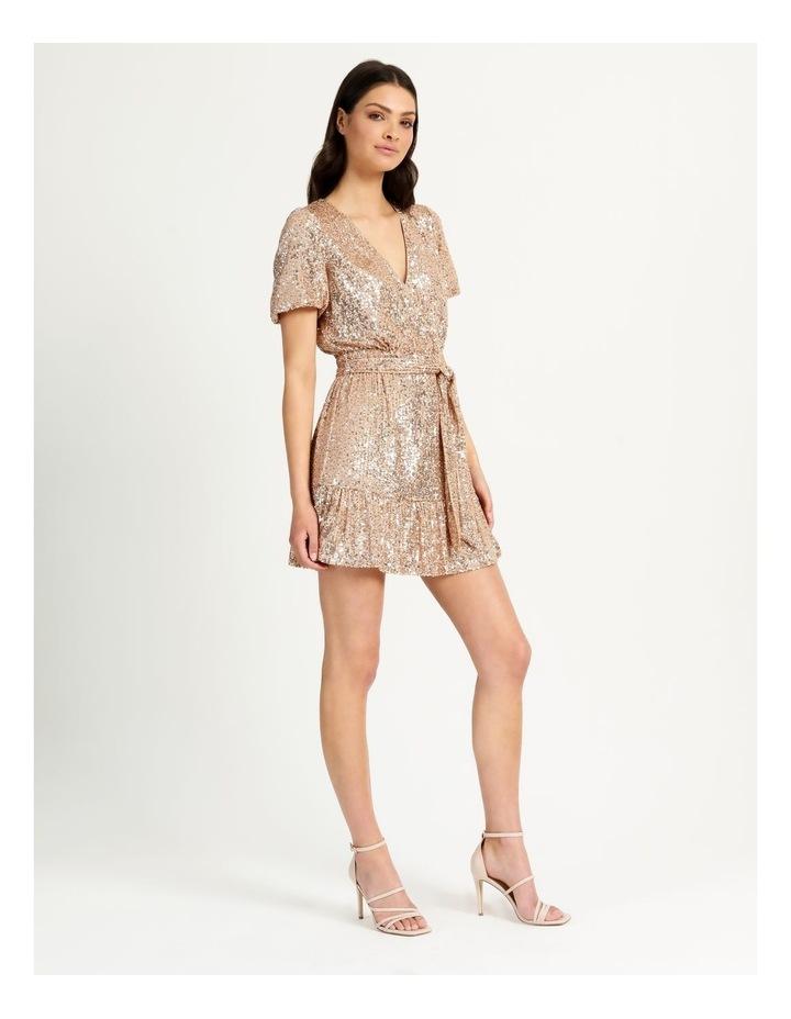 Sequin Mini Dress Rose Gold image 5