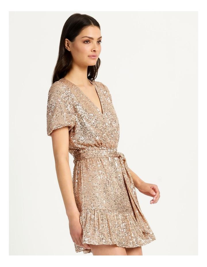 Sequin Mini Dress Rose Gold image 7