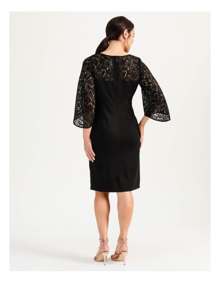 Ponte Lace Midi Dress Black image 6