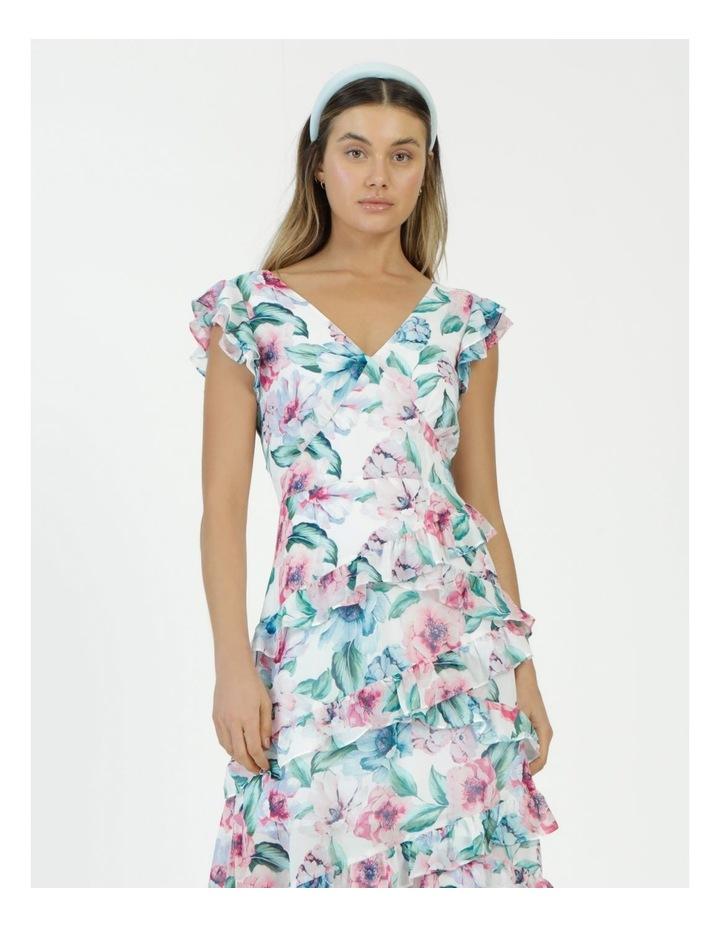 Ruffle Shoulder Maxi Dress image 2