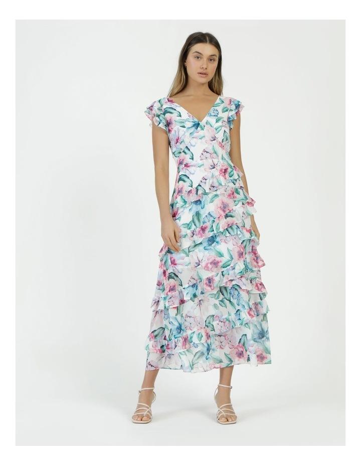 Ruffle Shoulder Maxi Dress image 3