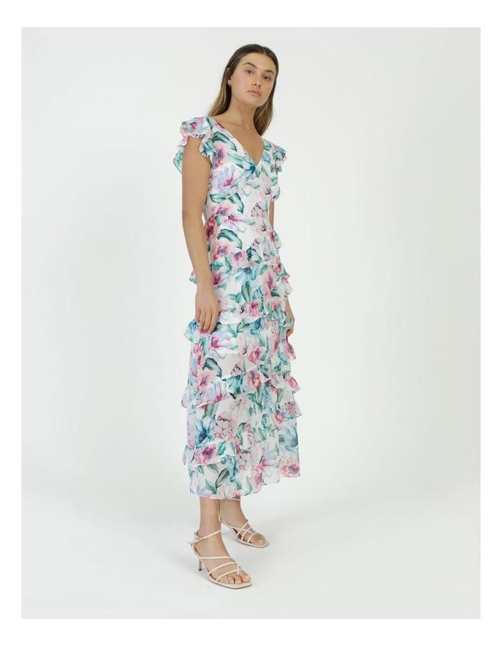 Ruffle Shoulder Maxi Dress image 4