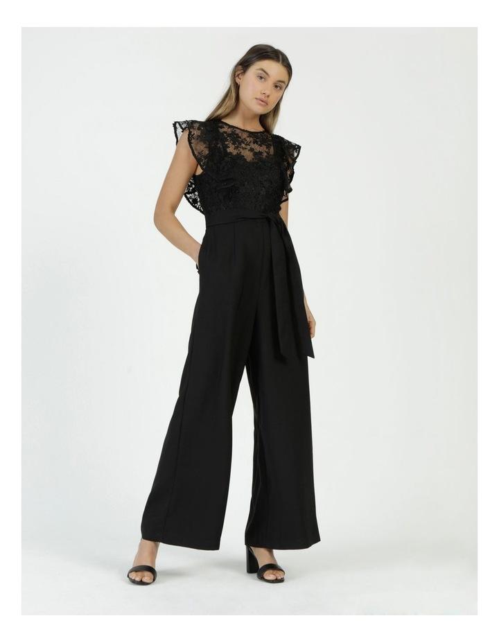 Lace Detail Jumpsuit Black image 3