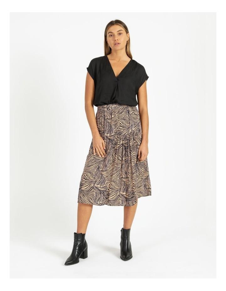Flannery V-Neck Cap Sleeve Top Black image 4