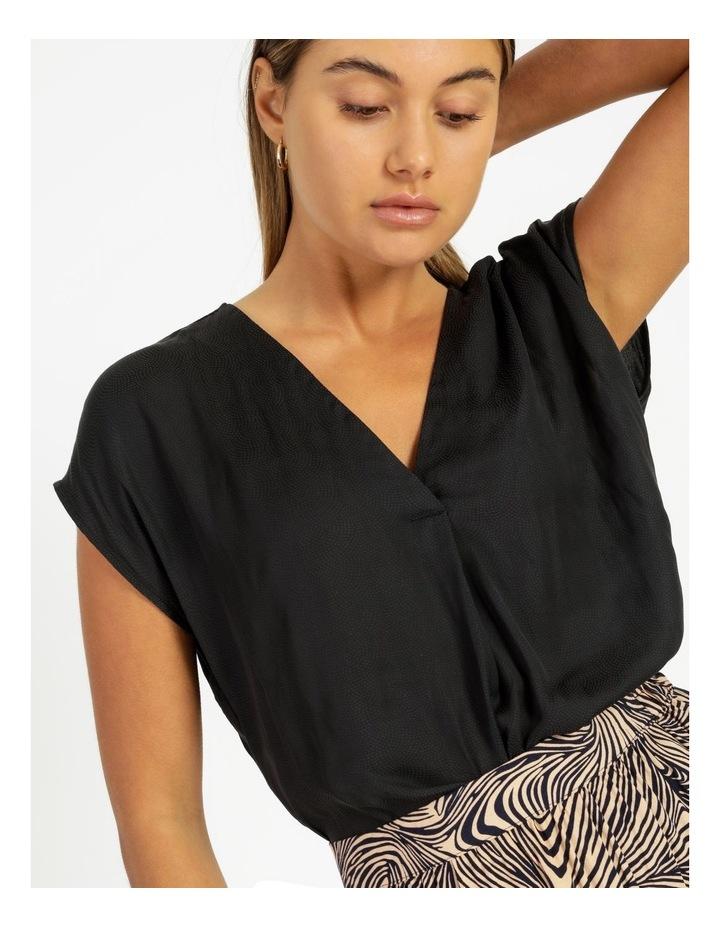 Flannery V-Neck Cap Sleeve Top Black image 5