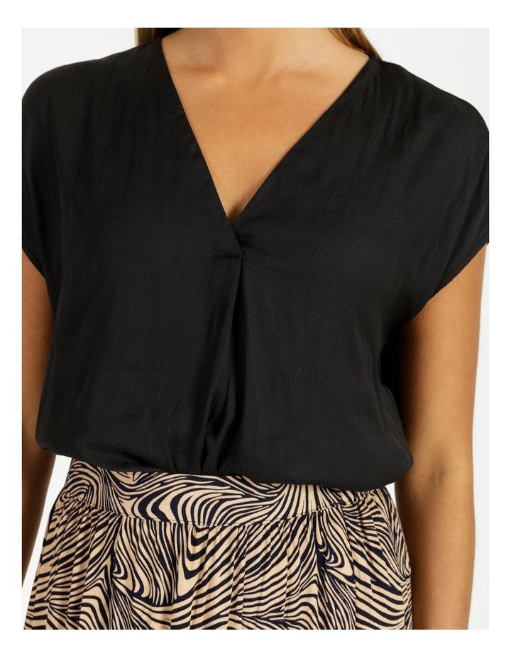 Flannery V-Neck Cap Sleeve Top Black image 6