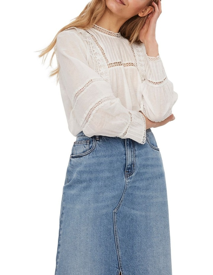 Etty Embroidered Long Sleeve Top White image 3