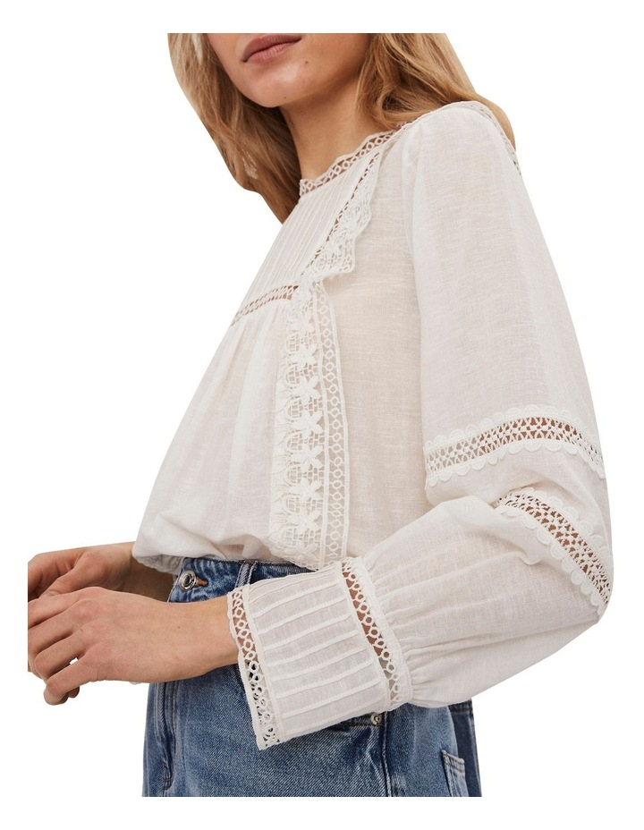 Etty Embroidered Long Sleeve Top White image 4