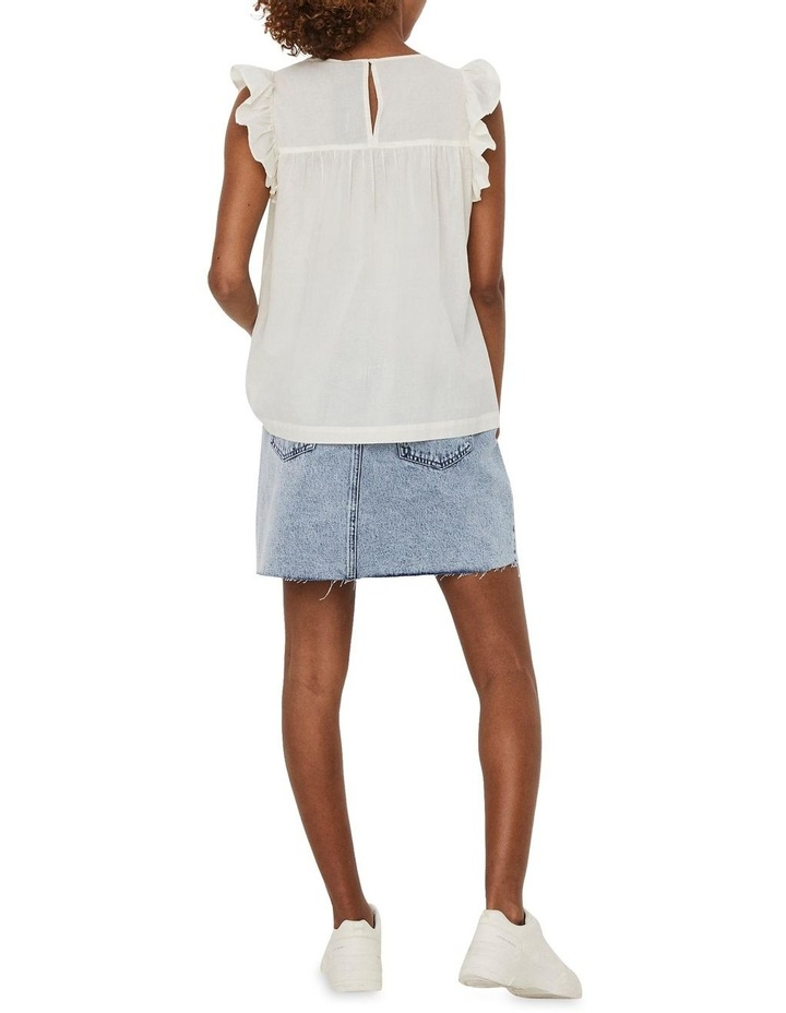 Loretta Cotton Embroidered Sleeveless Top Cream image 2