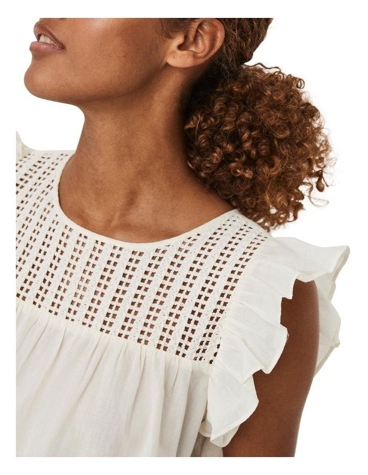 Loretta Cotton Embroidered Sleeveless Top Cream image 4