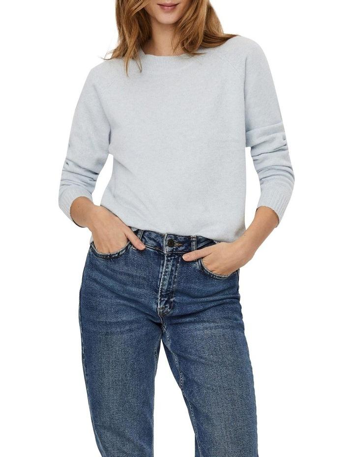 Doffy Blue Fog Long Sleeve O-Neck Knit Pullover image 1