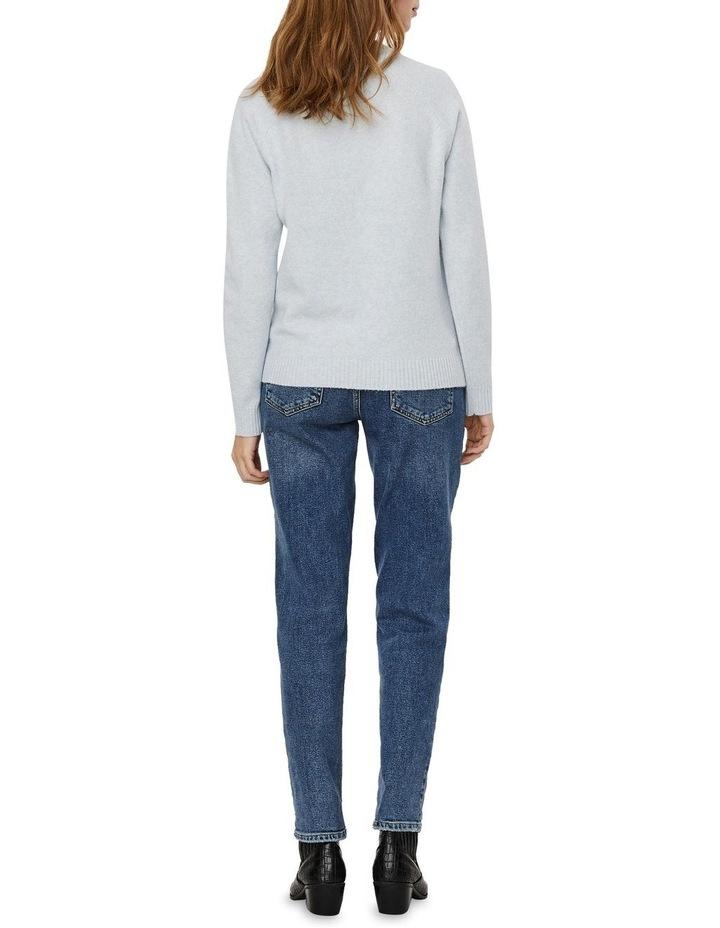 Doffy Blue Fog Long Sleeve O-Neck Knit Pullover image 2